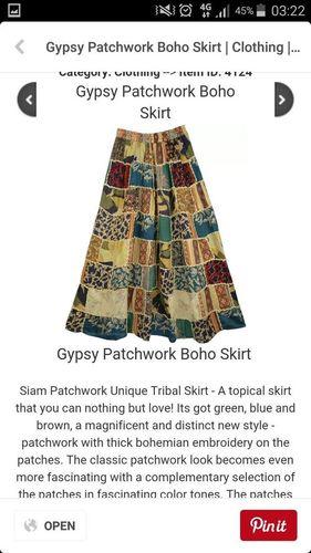 Patch Work Skirt