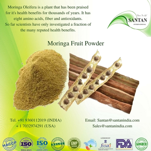 Natural Moringa Oleifera Fruit Powder