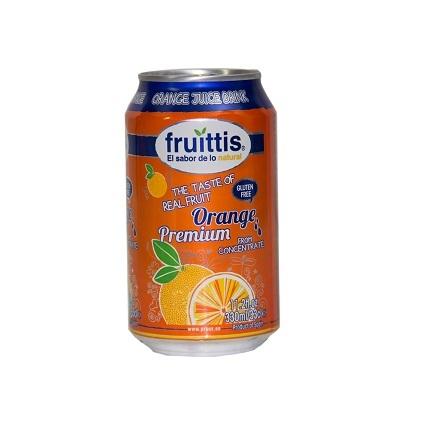 Canned Orange Juice Drink (Fruittis)