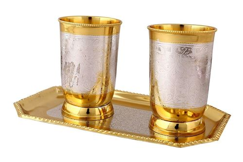 Brass Glass Set