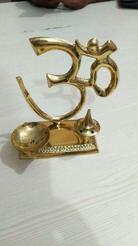 Brass Om Diya Stand