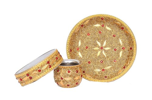 Indian Craftio Best Decorative Karwa Thali Set