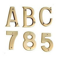 Brass Alphabets And Numerals