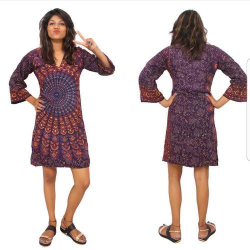 Fancy Ladies Mandala Cotton Dress