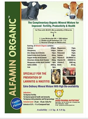 Organic Mineral Mixture for Dairy Animal