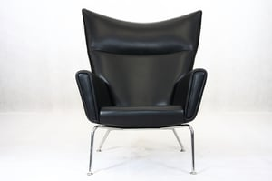 Wing Chair With Stainless Steel Base
