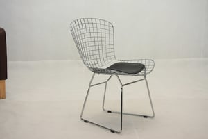 Wire Side Chair With Seat Cushion