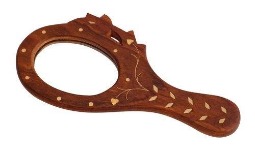 Desi Karigar Wooden Small Hand Mirror