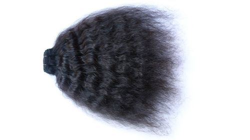 Wefted Natural Curly Human Hair