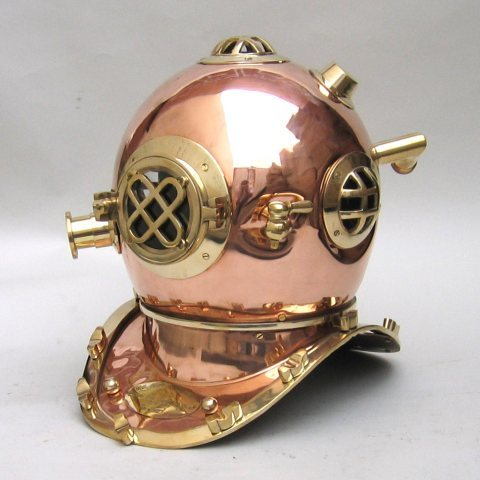 Copper Diving Helmet