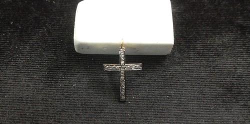 Diamond Sterling Silver Cross Shape Pendants