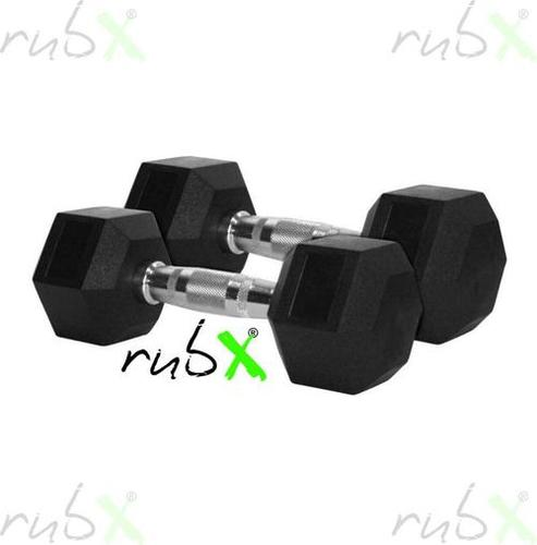 Rubber Coated Hexagonal Dumbbells