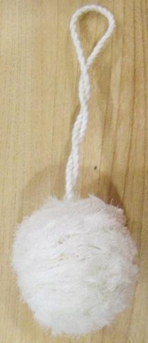 White Shiffon Pom Pom Tassels