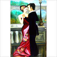 Decorative Romantic Dance Couple Oil Painting