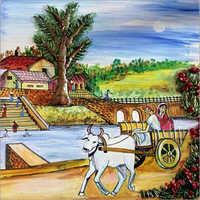Decorative Village Scene Painting