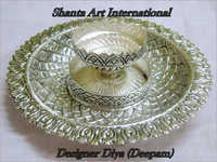 Pure Silver Designer Diya