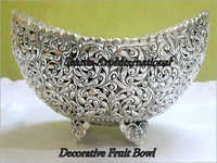 Rigid Silver Fruit Bowl