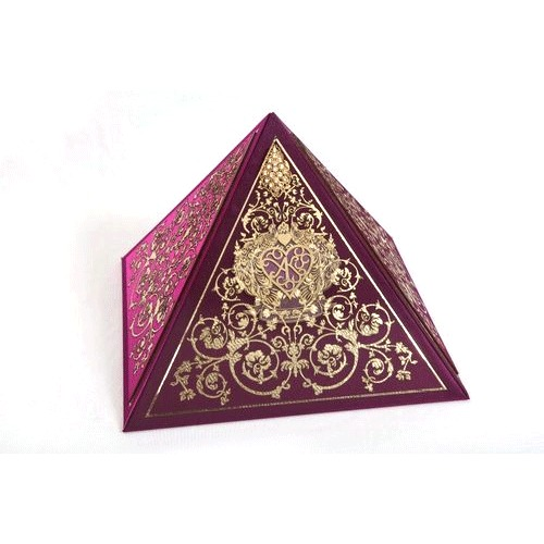 Pyramid Decorative Wedding Card Boxes In Gurgaon Haryana Divya Kriti Interesting Decorative Card Boxes