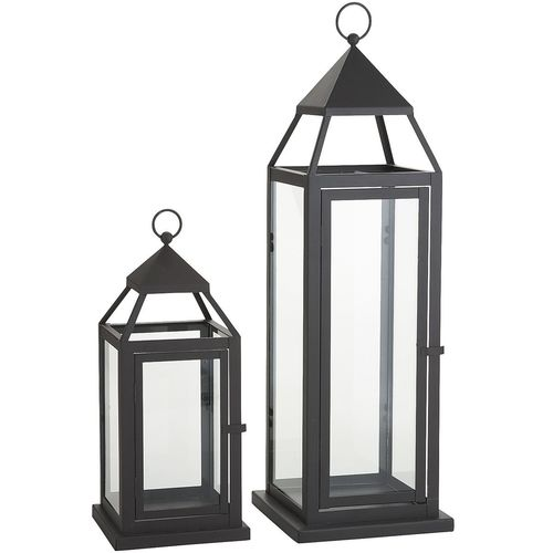 Galvanized Lanterns (Set Of 2)
