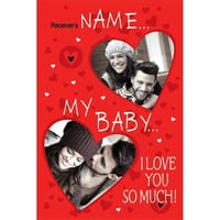 Baby I Love You Personalized Card