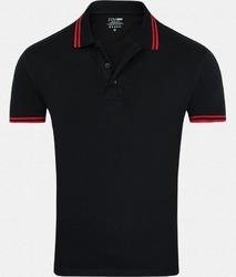 Polo T-Shirt In Black Colour