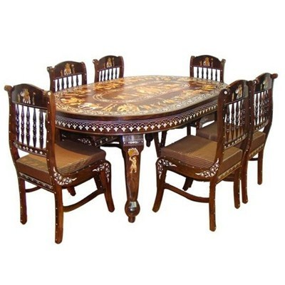 Designer Wooden Dining Table Set Shri Sunder Art Sez