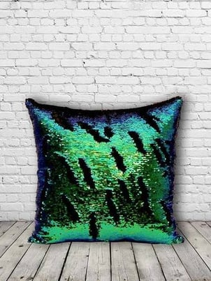 Bling Sequins Cushion (Teal Green)