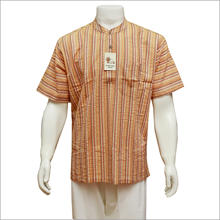 Readymade Men'S Half Sleeve Short Kurta