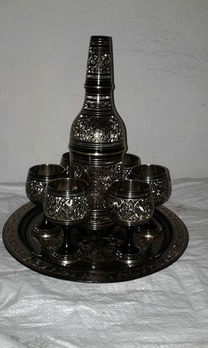 Decorative Bottle With Six Glass Set