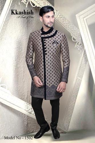 Indo Pattern Fabric Sherwani in  Elphinston