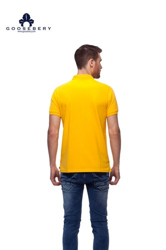 Mens Yellow Polo T Shirts Size: Large