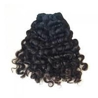 Curly Machine Weft Indian Hair