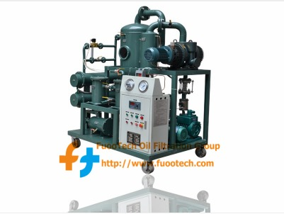 Double Stage Vacuum Oil Filtration Machine