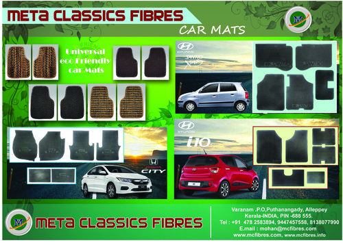 Car Mats Exporter Manufacturer Supplier Meta Classics Fibres India