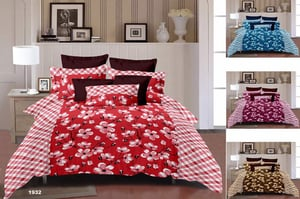 Double Bed Sheet With Two Pillow Covers