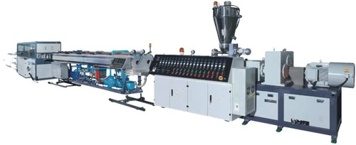 Conical Twin Screw Extruder Pvc Dual Pipe Plant