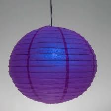 "Blue 10"" Coloured Round Paper Craft Hanging Lanterns"