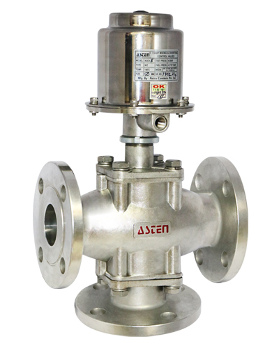 3/2 Way 42 kg Control Valve Flanged End