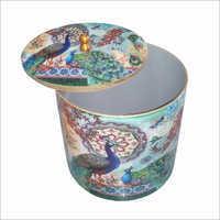 Decorative Printed Round Box