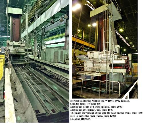 Skoda W250H Horizontal Boring Mill