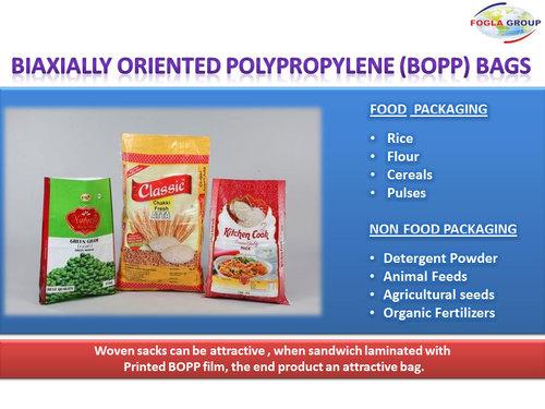 Biaxially Oriented Polypropylene (Bopp) Bags - Sai