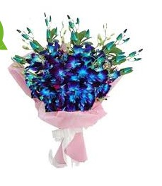Blue Orchid Bunch Flower Bouquet At Best Price In New Delhi Delhi New Happy Flowers