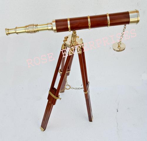 Antique Nautical Tripod Telescope