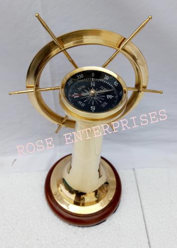 Nautical Brass Metal Floor Stand Compass