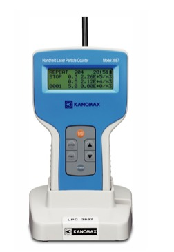 particle counter: handheld 3 channel model 3887-kit