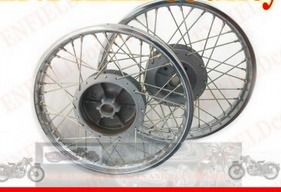 New Royal Enfield Complete Pair Steel Wheel Rim Wm2-19 Inches