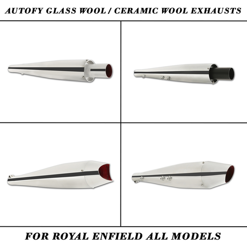 Autofy Glass Wool And Ceramic Wool Exhausts For Royal Enfield