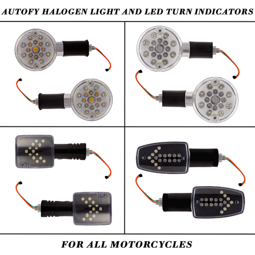Autofy Halogen Light And Led Turn Indicators For All Motorcycles And Bike