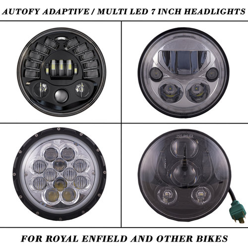 Autofy Multi Led 7 Inch Headlights For Royal Enfield