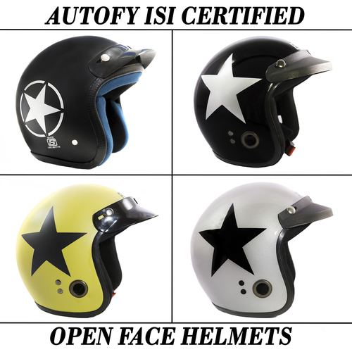 Autofy Open Face Helmets For Motorcycle Riders